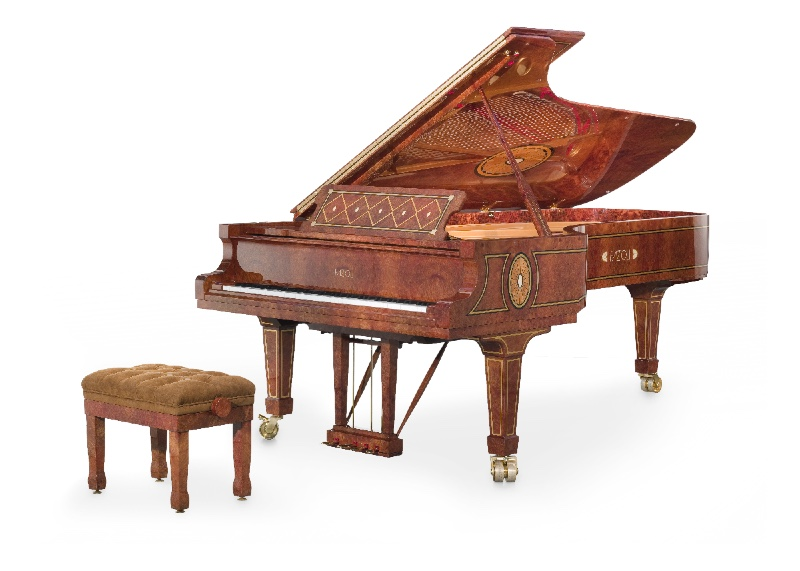Red Elm Piano by Fazioli