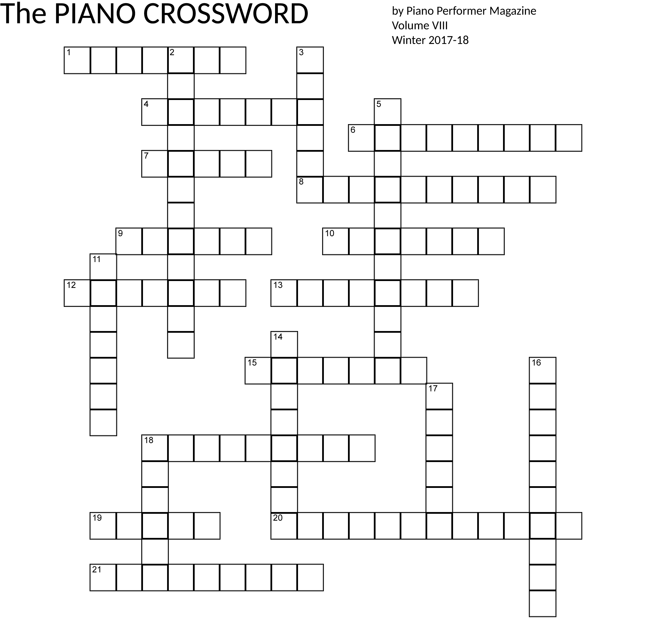 Piano performer magazine by american council of piano performers the names of our first five winners will be announced in the next issue of the piano performer magazine solutioingenieria Image collections